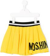 Moschino Kids - logo print pleated skirt - kids - Cotton/Spandex/Elastane - 6 yrs