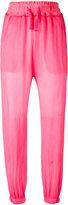 Amen drawstring waist trousers - women - Silk/Cotton/Spandex/Elastane - 40