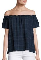 Generation Love Gina Plaid Off-The-Shoulder Top