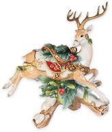 Fitz & Floyd Yuletide Holiday Right-Facing Deer Candleholder