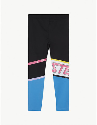 Stella McCartney Logo shell sports leggings 4-16 years