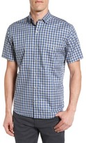 Maker & Company Men's Tailored Fit Grid Check Sport Shirt