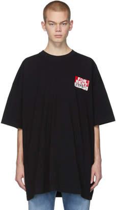 Vetements Black For Rent T-Shirt