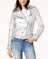 Glam by Glamorous Studded Faux-Leather Moto Jacket, Created for Macy's
