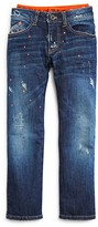 Armani Junior Armani Boys' Distressed & Spattered Layered Look Jeans - Sizes 4-16