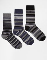 French Connection 3 Pack Socks - Blue