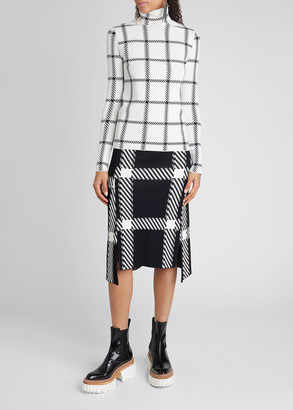 Stella McCartney Turtleneck Lumberjack Check Sweater