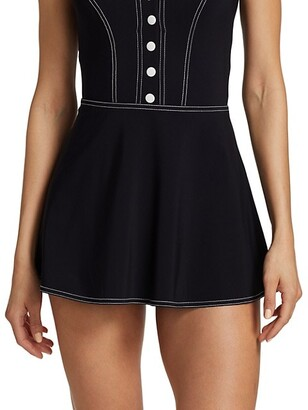 Karla Colletto Swim Lyra A-line Skirt