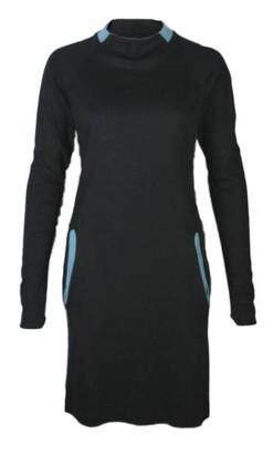 Format Yell Dress - black, bluegreen / S