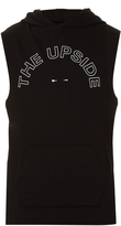 The Upside Joggers sleeveless jersey hooded sweatshirt