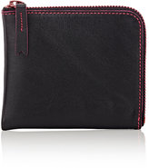Comme des Garcons Men's Marvellous Half-Zip Wallet-BLACK, PINK