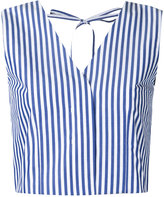 Taro Horiuchi striped waistcoat - women - Cotton - One Size