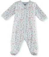 Petit Bateau Velour Multi-Dot Footie Pajamas, Size 1-9 Months