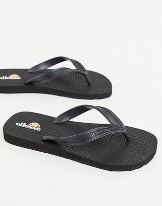 Ellesse flip flops in black