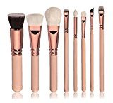 Bristles Set,CoKate8pcs Pro Makeup Brushes Set Cosmetic Foundation Eye Shadow Kit (Pink)