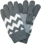CTM® Men's Fleece Lined Knit Gloves with Zig Zag