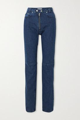 GmbH - Net Sustain Darshini Paneled High-rise Slim-fit Jeans - Dark denim