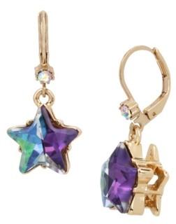 Betsey Johnson Two-Tone Star Drop Earrings