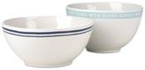Kate Spade Order's Up Set of 2 Mixing Bowls