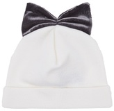 Federica Moretti Bow-embellished beanie hat