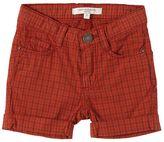 Plaid Stretch Cotton Poplin Shorts