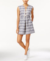 Rachel Roy Printed Lace-Up Dress