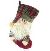 Firefly Imports Christmas Santa & Snowman 3D Stocking, 16-Inch, 2-Piece
