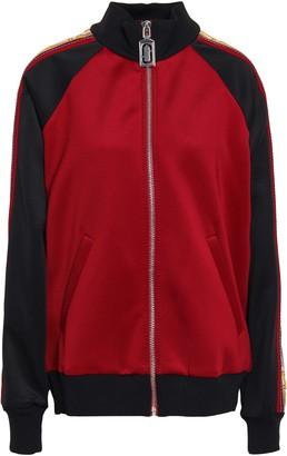 Marc Jacobs Jacquard-trimmed Neoprene Bomber Jacket