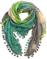 NEW Harper silk scarf with pompom trim Women's by Charli Bird