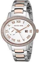 Michael Kors MK6228 Two Tone Stainless Steel Silver Dial Quartz 41mm Women