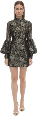 Alice McCall Embroidered Lurex & Lace Mini Dress