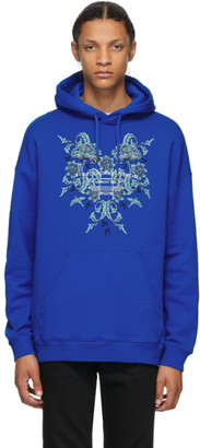 Givenchy Blue Floral Logo Studio Homme Hoodie