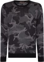 Michael Kors Men's Camo crew neck jumper