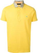 Etro contrast collar polo shirt - men - Cotton - M
