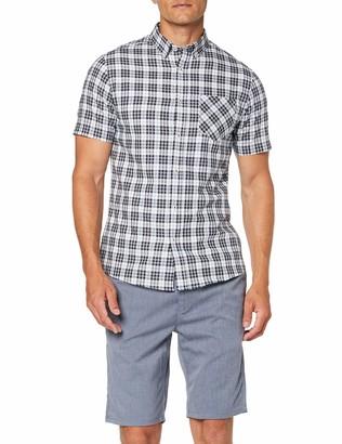 Burton Menswear London Men's Short Sleeve Orban Check Casual Shirt