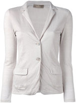 Cruciani fitted blazer jacket - women - Linen/Flax - 42