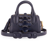 Anya Hindmarch Vere Mini Barrel Apex Satchel Bag, Dark Blue