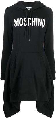 Moschino Logo-Print Hoodie Dress