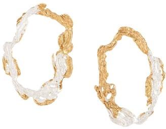 LOVENESS LEE Dzovag hammered hoop earrings