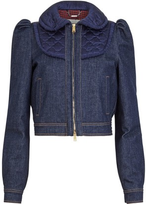 Fendi Cropped Denim Jacket