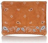 Meli-Melo Oversized Clutch Bag Light Tan Print