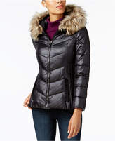 INC International Concepts I.n.c. Faux-Fur-Trim Puffer Coat, Created for Macy's