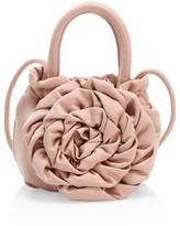 STAUD Rose Satin Top Handle Bag