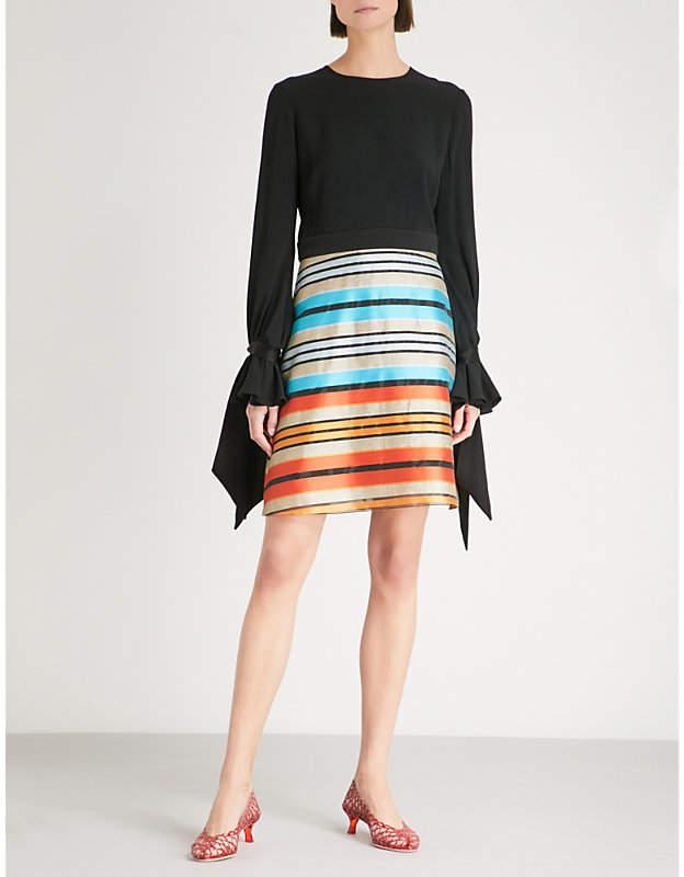 Mary Katrantzou Ligretto cotton-blend and woven dress