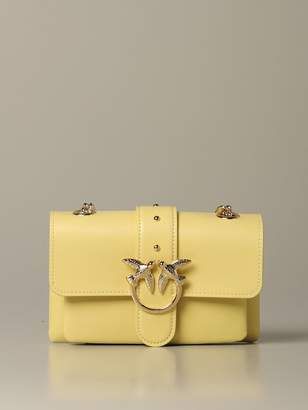 Pinko Love Soft Baby Simply Leather Bag