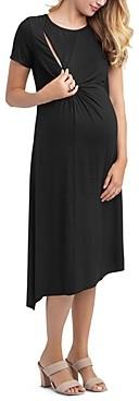 Nom Maternity Kat Asymmetric Nursing Dress