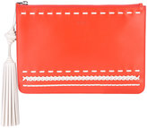 Tod's woven stitch tassel clutch - women - Calf Leather - One Size