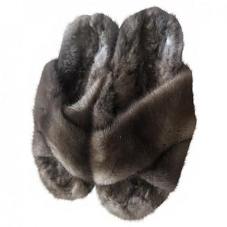 Max Mara Brown Mink Sandals
