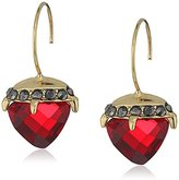 """Betsey Johnson Garden of Excess"""" Faceted Stone Drop Earring"""