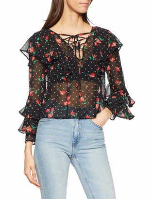 GUESS Women's LS Thelma TOP Blouse
